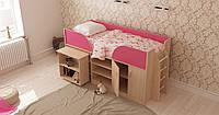 Детская кровать Пумба с выдвижным столом Лион