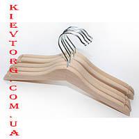 Вешалки плечики деревянные детские ЭКО без перекладины