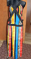 Шифоновый костюм в полоску, р. 44-46, 48-50
