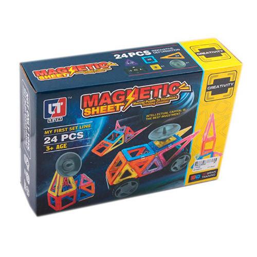 Магнитный конструктор Magnetic sheet (24 деталей) арт. 5004