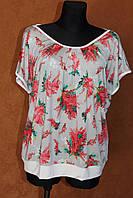 Женская футболка большого размера, р.52-60