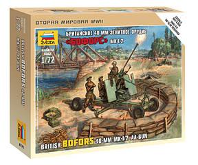 """Британское 40-мм зенитное орудие """"Бофорс"""" 1/72 ZVEZDA 6170, фото 2"""