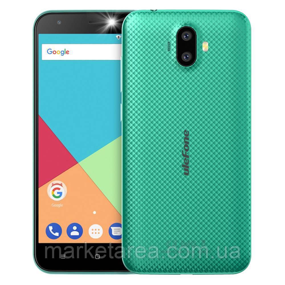 Смартфон улефон зеленый с двойной камерой на 2 сим карты UleFone S7 green 1/8 гб