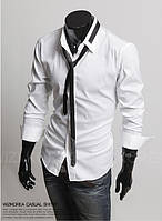 Рубашка мужская Белая с галстуком
