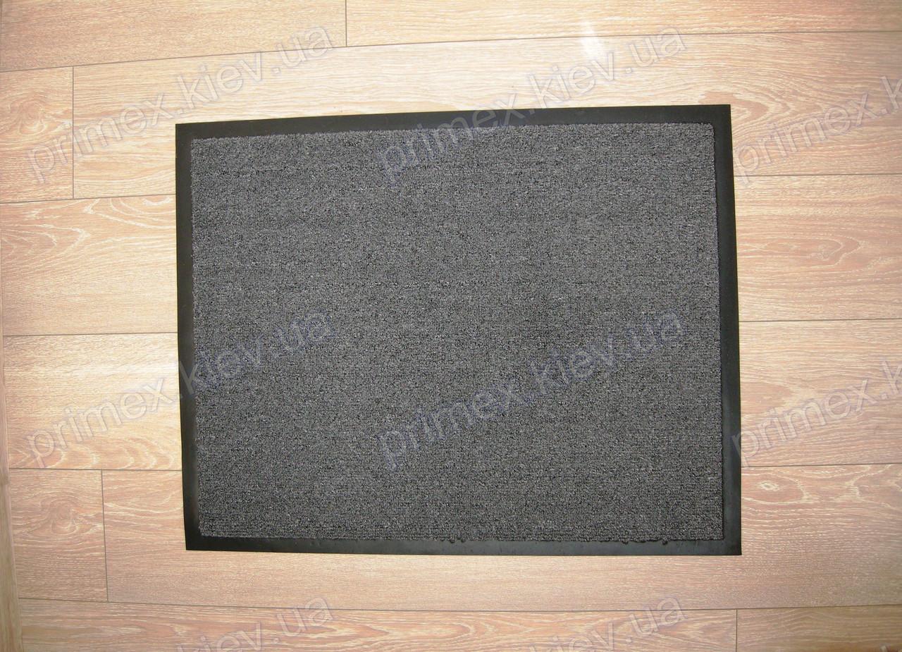 Ковер придверный грязезащитный 60х80см., темно-серый цвет пепельный. Грязезащитный коврик купить - Тексигум в Киеве
