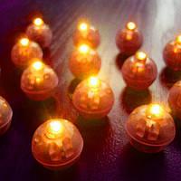 Светодиод для шаров SoFun круглый оранжевый цена за 1 шт, фото 1