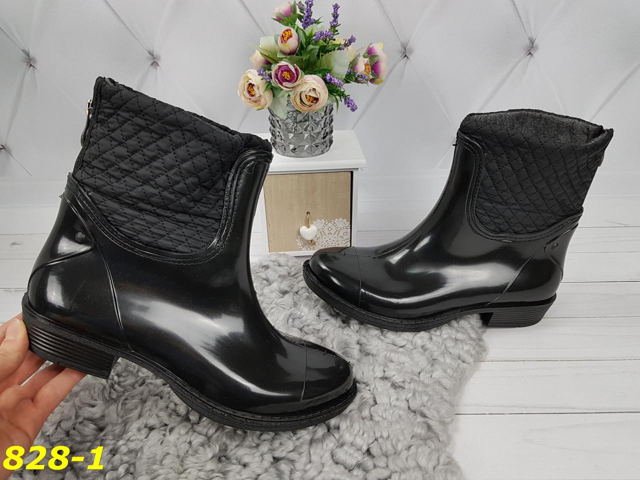 05169e1f9 ... Полусапожки ботинки резиновые непромокаемые утепленные со змейкой сзади,  ...