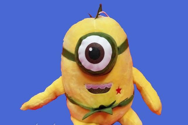 Мультяшний Міньйон 16 см м'яка плюшева іграшка веселий Міньйон м'які іграшки для дітей, фото 2
