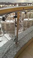 Стеклянные ограждение из гнутого стекла