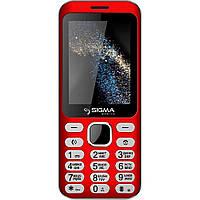 Кнопочный телефон с камерой и удобными кнопками Sigma X-Style 33 Steel Red
