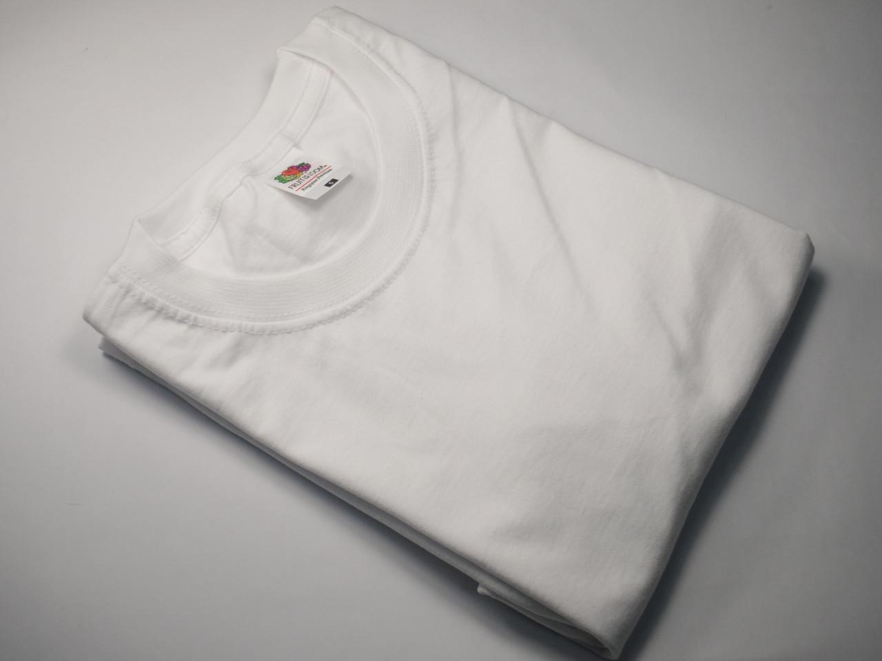 Плотная и мягкая мужская футболка 61-422-0 Белый, 5XL