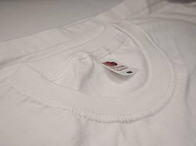 Плотная и мягкая мужская футболка 61-422-0 Белый, 5XL, фото 3