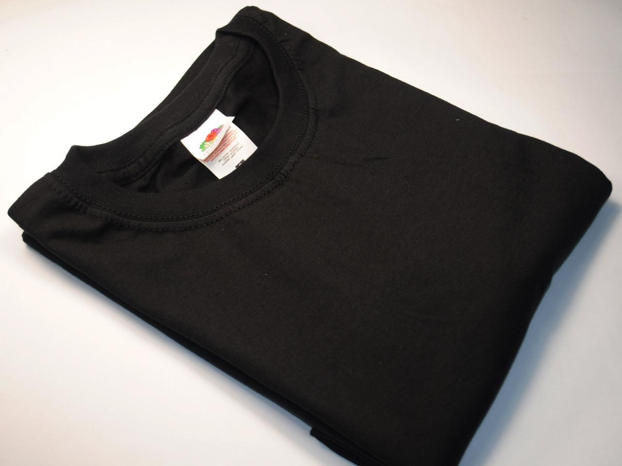 Плотная и мягкая мужская футболка 61-422-0 Чёрный, 5XL