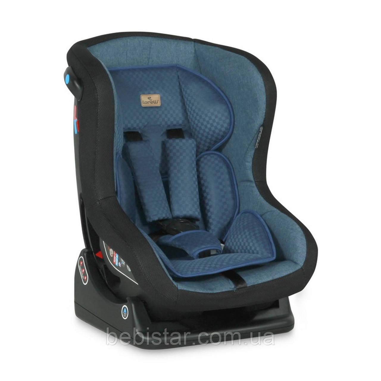 Автокресло синее Lorelli SATURN 0-18 KG BLUE для детей с рождения до 3-4 лет