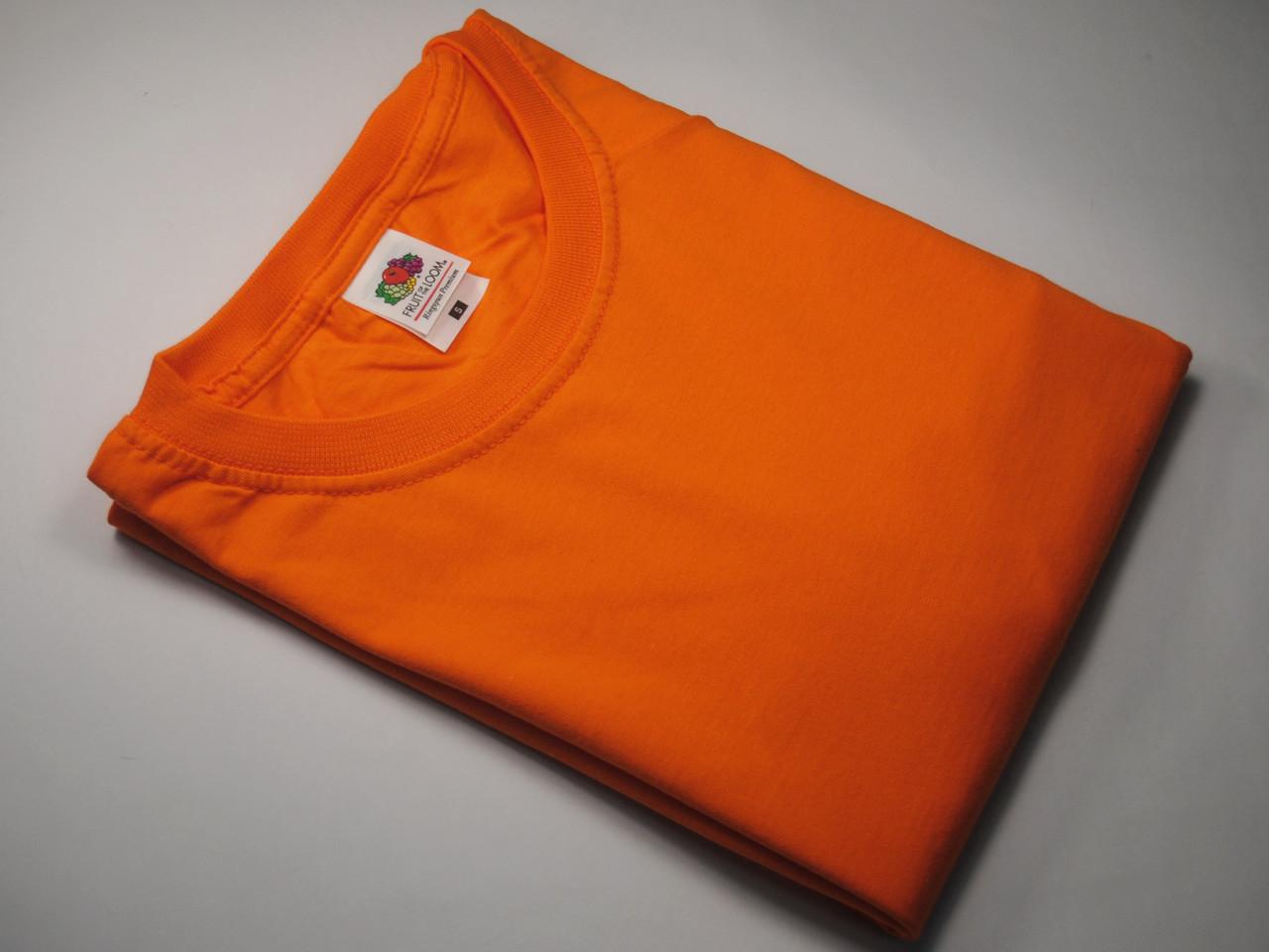 Плотная и мягкая мужская футболка 61-422-0 Оранжевый, XL