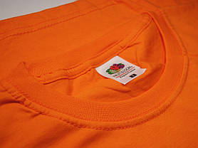 Плотная и мягкая мужская футболка 61-422-0 Оранжевый, XL, фото 2