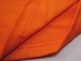 Плотная и мягкая мужская футболка 61-422-0 Оранжевый, XL, фото 3