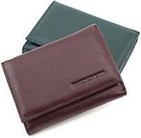 Оригинальный  маленький кожаный  кошелек коричневого цвета Marco Coverna