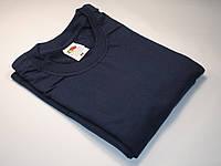Плотная и мягкая мужская футболка 61-422-0 Глубоко тёмно-синий, XXL