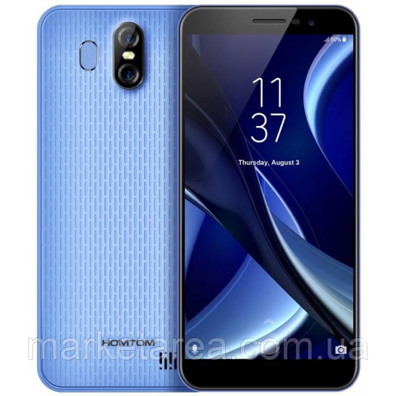 "Смартфон Homtom S16 blue голубой (2SIM) 5.5"" 2/16GB 5/8+2Мп 3G 4G оригинал Гарантия!"