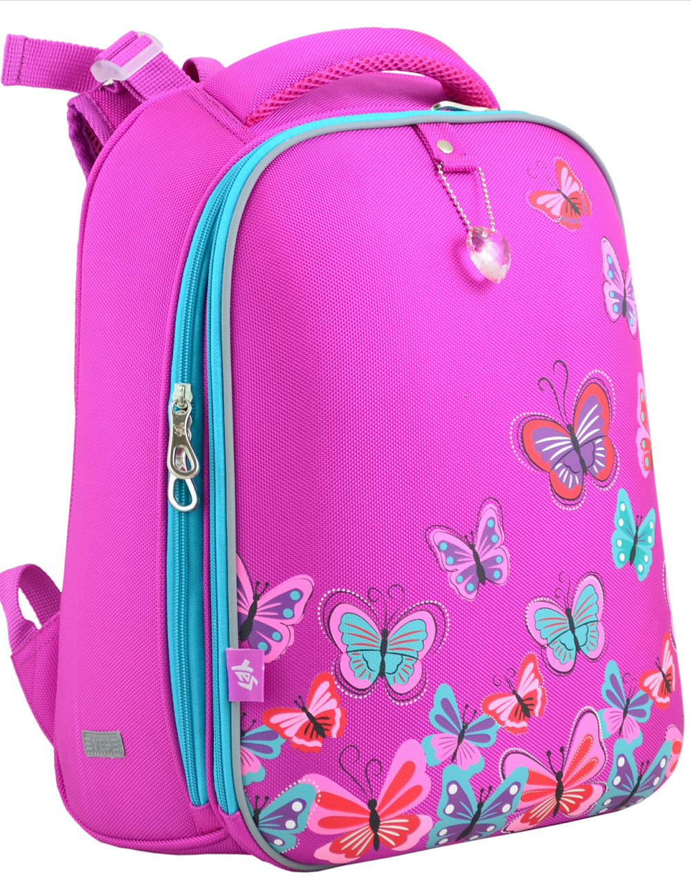 5bb4435ea1ce Рюкзак школьный Yes H-12-1 Butterfly rose 554492, каркасный, 16л ...