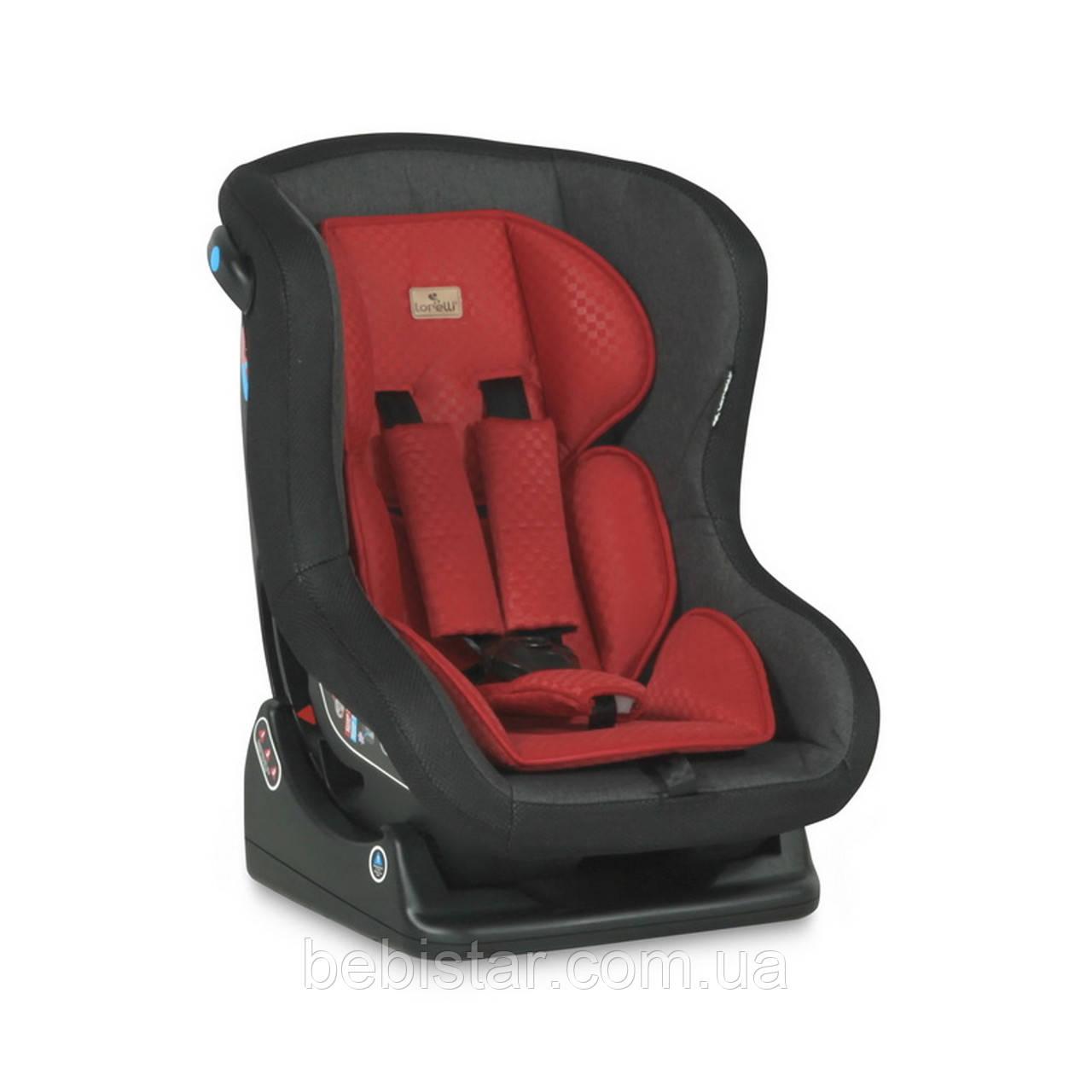 Автокресло черно-красное Lorelli SATURN 0-18 KG BLACK&RED для детей с рождения до 3-4 лет