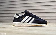 Мужские кроссовки в стиле Adidas Iniki (dark blue), кроссовки адидас иники (Реплика ААА), фото 1