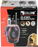 Портативная акустическая система golon rx-678, мр3-плеер, радио fm, usb/sd, встроенный led-фонарик, караоке