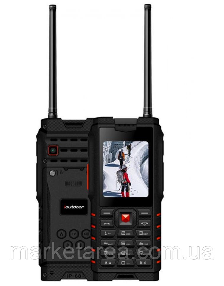 Телефон кнопочный защищенный с большим дисплеем и батареей большой емкости на 2 сим карты Outdoor T2 red РАЦИЯ