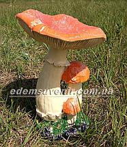 Садовая фигура Грибы Рыжики и Жаба болотная, фото 3