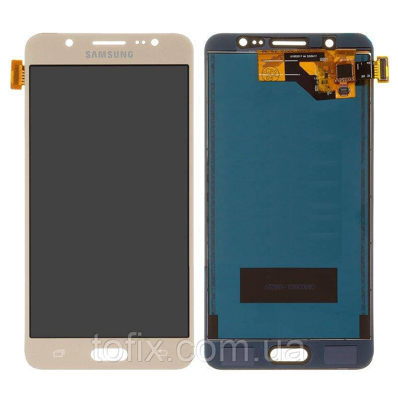 Дисплей для Samsung Galaxy J5 (2016) J510, модуль в сборе (экран и сенсор), золотистый, TFT