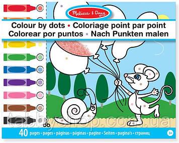 """Раскраска по точкам Melissa & Doug """"Забавные животные"""""""