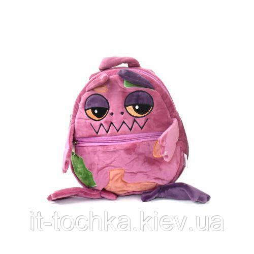 Детский мягкий рюкзак e21229 Монстрик розовый