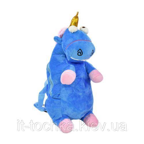 Мягкий детский рюкзачок c31206 Единорожка голубой