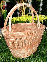 Пасхальная плетенная корзина из лозы, фото 1