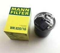 """Фильтр топливный MERCEDES SPRINTER (906) 3,5-t 2009>, VITO (W639) 2010>; """"MANN"""" WK820/16 - Германия"""