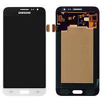 Дисплей для Samsung J320 Galaxy J3 (2016), модуль в сборе (экран и сенсор), белый, OLED