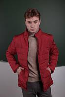 Курточка утепленная мужская осенняя/весенняя, цвет красный
