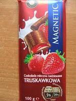 Шоколад MAGNETIC з полуничною начинкою 100г (1/20)