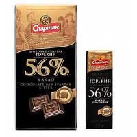 """Шоколад гіркий елітний 56% 90г """"СПАРТАК"""" (1/25)"""