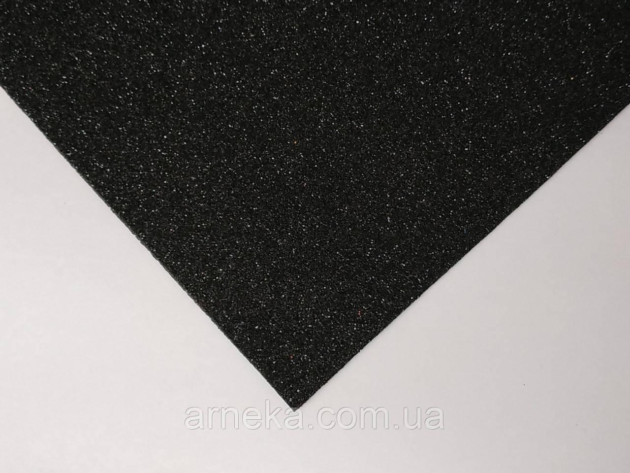 Фоамиран с глиттером 20*30 черный