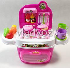 Детская пластиковая игровая кухня для девочки, плита 2 камфорки розовая Kitchen Kids