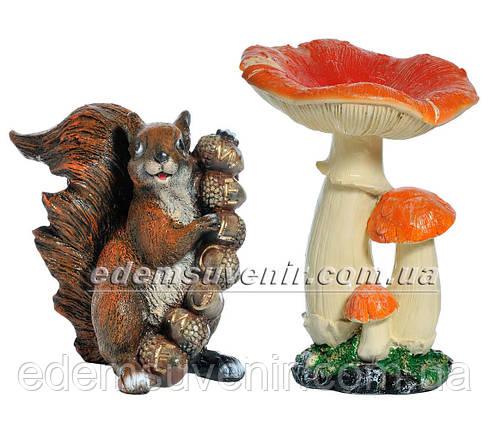 Садовая фигура Грибы Рыжики и Белка Welkome, фото 2