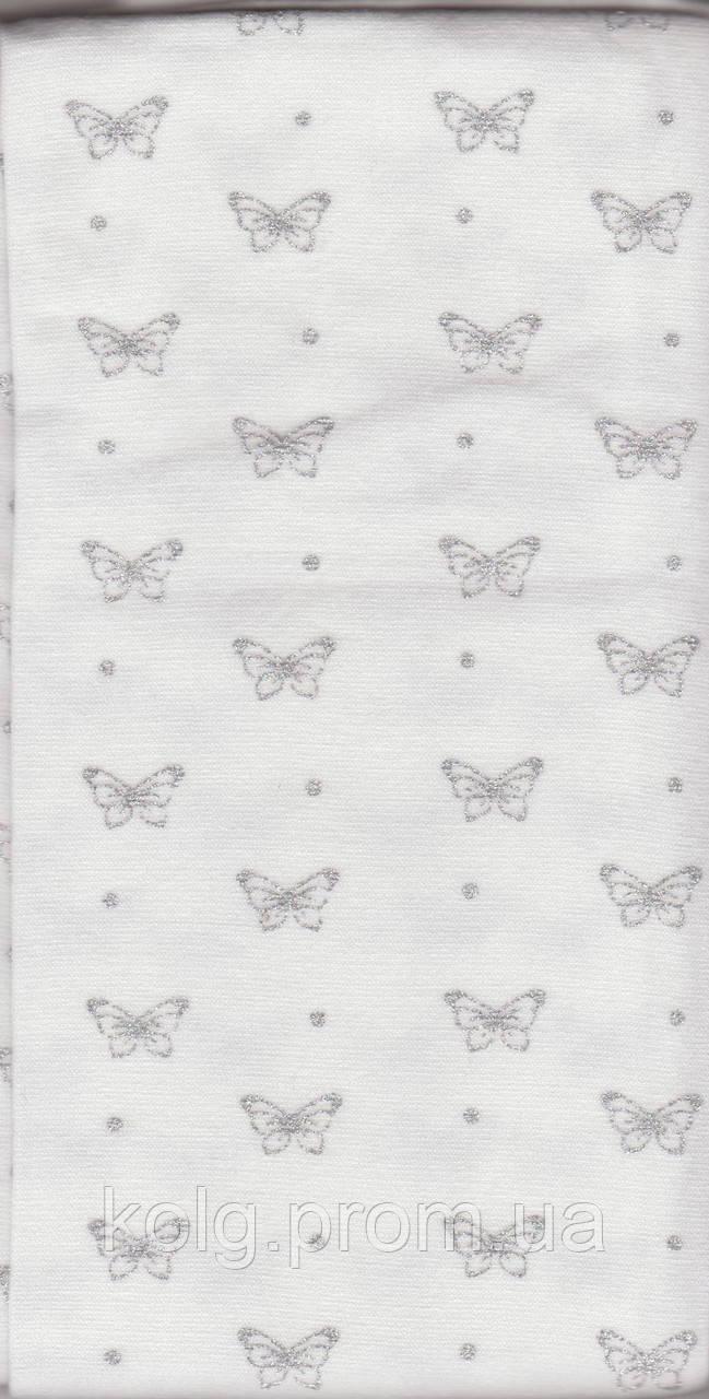 """Колготки с узором """"серебристые бабочки"""""""