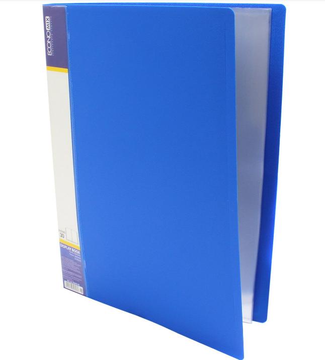 Папка А4 с 30 файлами Economix, синяя