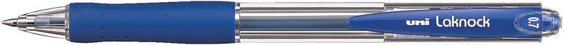 Ручка кулькова Uni Laknock автомат fine 0,7 мм синій SN-100.(07).Blue