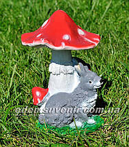 Садовая фигура Мухомор с зайцем и Мухомор с жабкой, фото 3