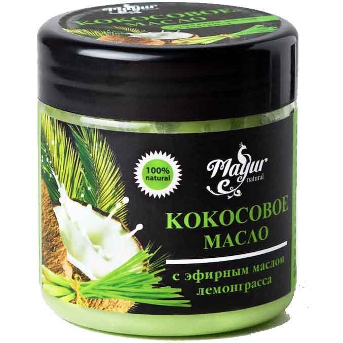 Кокосова олія Mayur для волосся і тіла с ефірною олією Лемонграса 140 мл