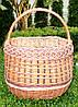 Плетений кошик з лози для грибів