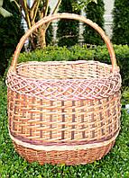 Плетений кошик з лози для грибів, фото 1